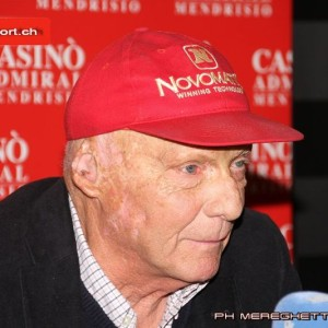 Il leggendario pilota austriaco Niki Lauda ospite d'eccezione della serata al Casinò Admiral di Mendrisio