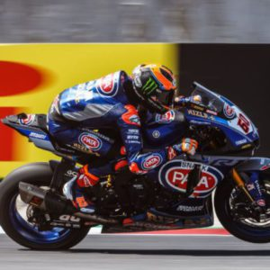 Van der Mark sets the fastest lap time ahead of Rea and Bautista before suffering a huge crash