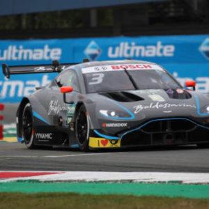 Aston Martin Vantage DTM in home debut at Brands Hatch