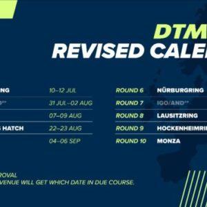 DTM announces restructured 2020 calendar