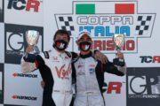 Aiello e Nardilli show a Imola con le Honda TCR della MM Motorsport