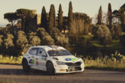 Il 6° Rally Colline Metallifere e Valdicornia  a Pinzano-Zegna (Skoda Fabia R5)