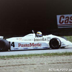 Imola 1981, debutta Michele Alboreto