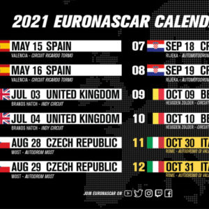 La NWES presenta un calendario 2021 aggiornato