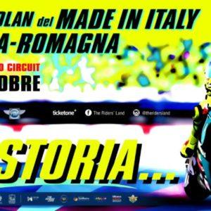 GRAN PREMIO NOLAN DEL MADE IN ITALY E DELL'EMILIA-ROMAGNA:  SALE LA FEBBRE NELLA RIDERS' LAND PER LA GRANDE FESTA A VALENTINO ROSSI